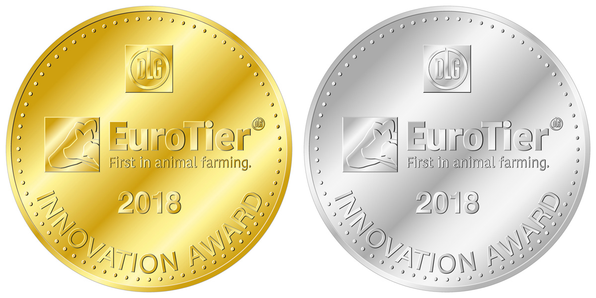 EuroTier Innovation Award Gold- und Silbermedaille
